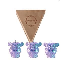 Set-3-Velas-Decorativas-Mini-Dog-Plata-Sin-Aroma