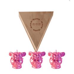 Set-3-Velas-Decorativas-Mini-Dog-Bronce-Sin-Aroma