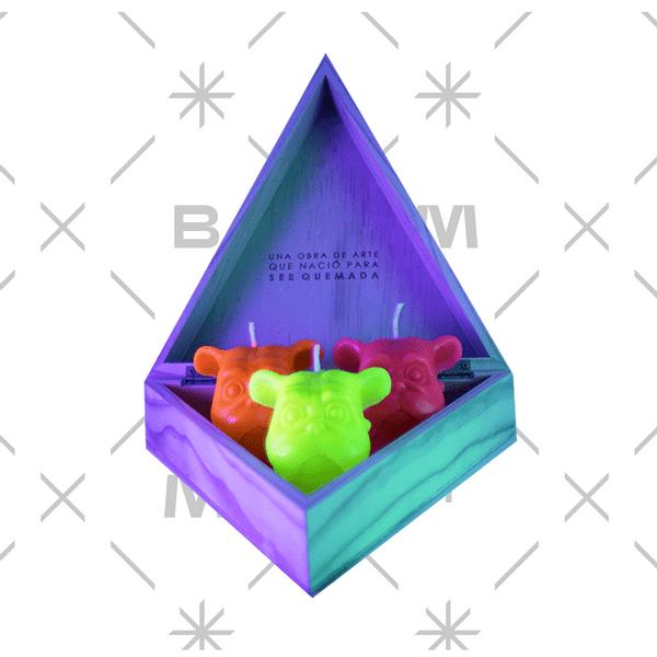 Set-3-Velas-Deco-Mini-Dog-Degrade-Naranja-Morado-Sin-Aroma