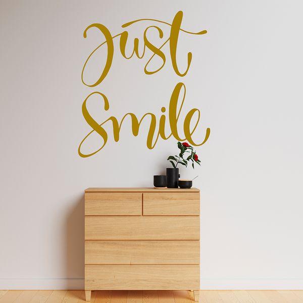Vinilo-Decorativo-Just-Smile-90-80Cm