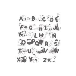 Vinilo-Decorativo-Abecedario-Gatos-120-110Cm