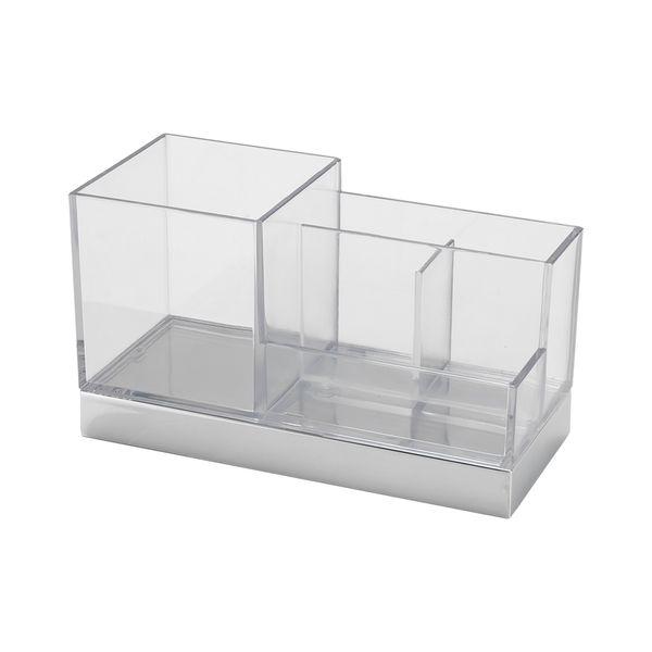 Porta-Cepillo-Y-Organizador-Clarity-Cromo