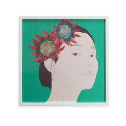 Cuadro-Artistico-Mujer-Flores-40-40Cm