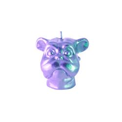 Vela-Decorativa-Mini-Dog-Plata-Sin-Aroma