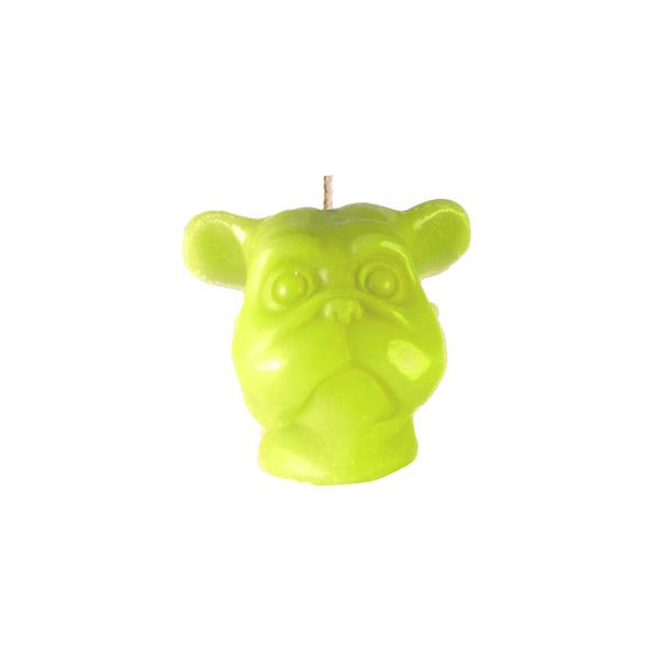 Vela-Decorativa-Mini-Dog-Verde-Sin-Aroma