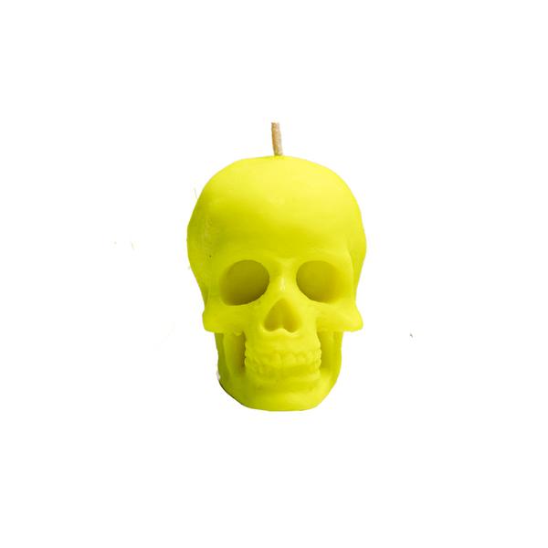 Vela-Decorativa-Mini-Skull-Verde-Sin-Aroma