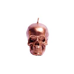 Vela-Decorativa-Mini-Skull-Bronce-Sin-Aroma