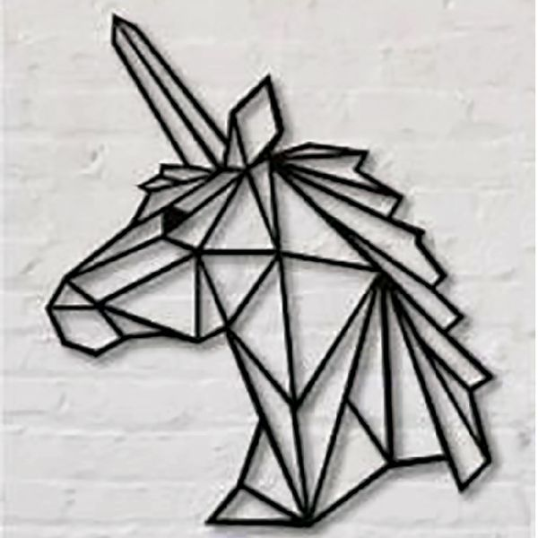 Cuadro-Unicornio-60-48Cm-Negro