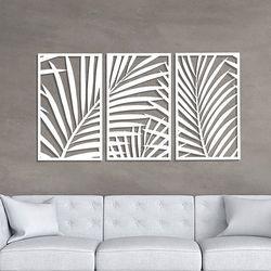 Set-3-Cuadros-Palm-Tree-60-36Cm-Blanco