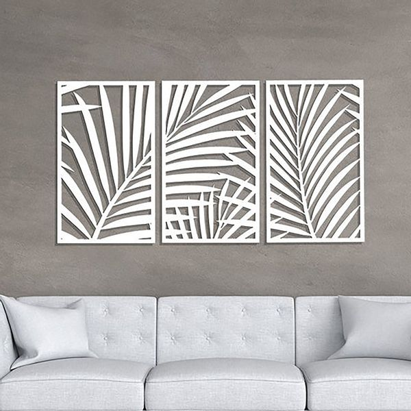 Set-3-Cuadros-Palm-Tree-60-36Cm-Blanco