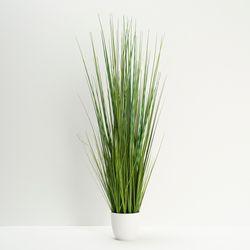 Planta-Artificial-Alta-Isolepis-Grass-100Cm-Blanco