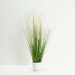 Planta-Artificial-Grass-80Cm-Blanco