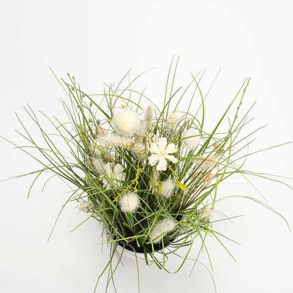 Planta-Artificial-Meadow-Flowers-40Cm-Blanco-Crema