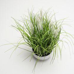 Planta-Artificial-Arreglo-Grass-38Cm-Blanco