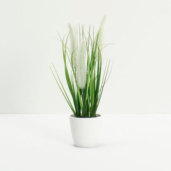 Planta-Artificial-Grass-Surt-27Cm-Blanco-Crema