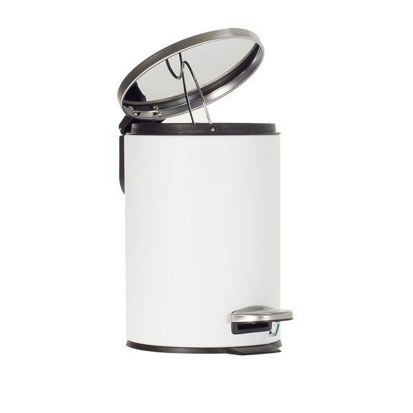 Papelera-Pedal-3Lt-Blanco-Satin