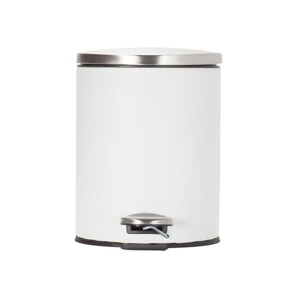 Papelera-Pedal-5Lt-Blanco-Satin