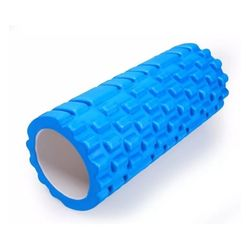 Rodillo-De-Ejercicio-Yoga-Azul
