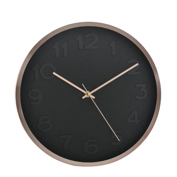 Reloj-De-Pared-Noir-Diam-30Cm-Negro-Cobre