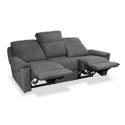 Sofa-3P-Reclinable-Manual-Glenn-Gris