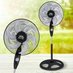 Ventilador-Pedestal-18P-Maxi-Flow-6-Aspas-Rejmet-85W-Negro