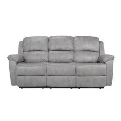 Sofa-3P-Reclinable-Nantes-Gris