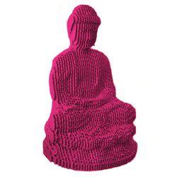 Figura-Decorativa-Grand-Buddha-25-23-15Cm-Carton-Magenta
