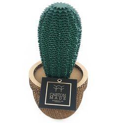 Figura-Decorativa-Star-Cactus-25-25-11Cm-Carton-Verde