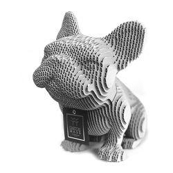Figura-Decorativa-French-Bulldog-20-12-22Cm-Carton-Plateado