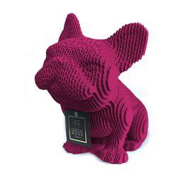 Figura-Decorativa-French-Bulldog-20-12-22Cm-Carton-Magenta