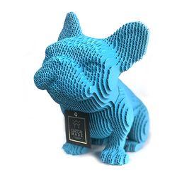 Figura-Decorativa-French-Bulldog-20-12-22Cm-Carton-Turquesa
