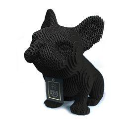 Figura-Decorativa-French-Bulldog-20-12-22Cm-Carton-Negro