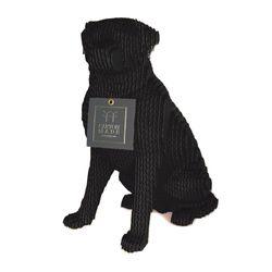 Figura-Decorativa-Labrador-30-19-27Cm-Negro