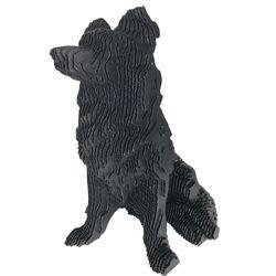 Figura-Decorativa-Border-Collie-30-20-29Cm-Carton-Negro