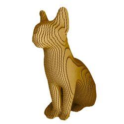 Figura-Decorativa-Siamese-Cat-35-15-34Cm-Carton-Dorado