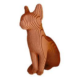 Figura-Decorativa-Siamese-Cat-35-15-34Cm-Carton-Oro-Rosa