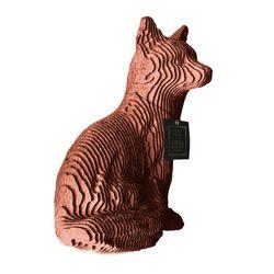 Figura-Decorativa-Fox-35-20-25Cm-Carton-Oro-Rosa