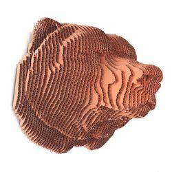 Figura-Decorativa-Bear-Head-30-23-27Cm-Carton-Cobre