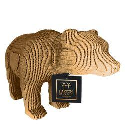 Figura-Decorativa-Bear-25-20-12Cm-Carton-Dorado