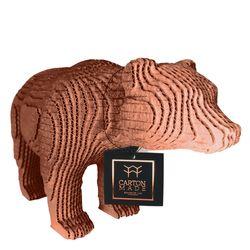 Figura-Decorativa-Bear-25-20-12Cm-Carton-Oro-Rosa