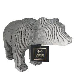 Figura-Decorativa-Bear-25-20-12Cm-Carton-Plateado