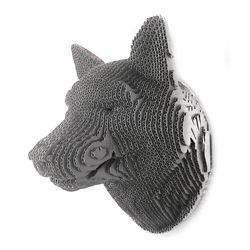 Figura-Decorativa-Wolf-35-21-25Cm-Carton-Plateado