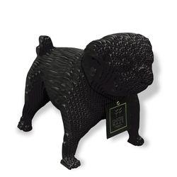 Figura-Decorativa-Pug-25-19-34Cm-Carton-Negro