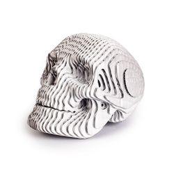Figura-Decorativa-Skull-16-16-22Cm-Carton-Plateado