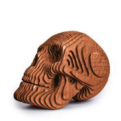 Figura-Decorativa-Skull-16-16-22Cm-Carton-Cobre