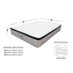 Colchon-One-Pillow-Extra-Doble-190-160-28Cm-Gris-Blanco
