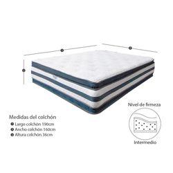 Combo-Colchon-Doble-Pillow-Extra-Doble-190-160-36Cm-Prot-Alm-Gris-Blanco