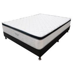 Combo-Colchon-One-Pillow-King-200-200-28C-Base-Cama-Gris-Blanco