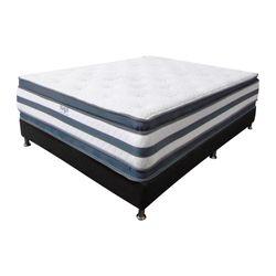 Combo-Colchon-Doble-Pillow-Doble-190-140-36Cm-Base-Cama-Gris-Blanco