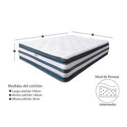 Combo-Colchon-Doble-Pillow-Doble-190-140-36Cm-Prot-Almohada-Gris-Blanco